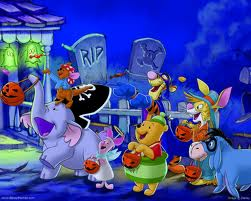 trick oder treat with pooh and Friends
