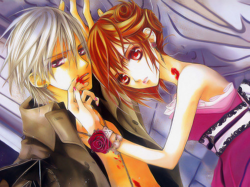 Vampire Knight karatasi la kupamba ukuta probably containing anime entitled vampire knight