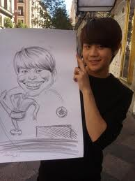 yoseob with a drawing