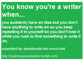 toi know your a writer when