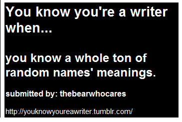 anda know your a writer when