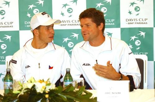 young Radek Stepanek and Jiri Novak