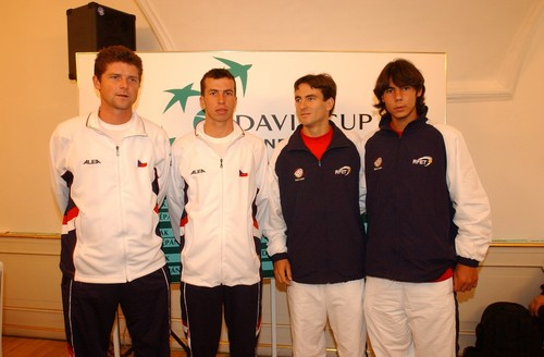 young Radek Stepanek and Rafael Nadal in Czech Republic