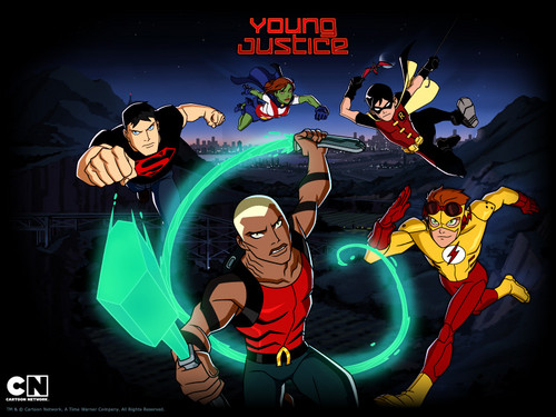 Teen Titans vs. Young Justice fond d'écran containing animé titled young justice