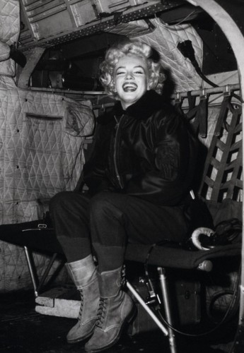 Marilyn Monroe karatasi la kupamba ukuta containing a barrow and a covered wagon titled Marilyn Monroe
