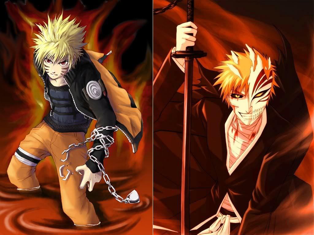 Wallpaper Naruto Vs Bleach   Anime Full HD Wallpaper