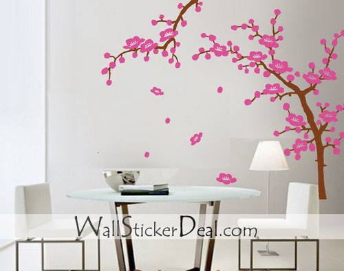 2 Sets cerise Blossom Branches mur Stickers