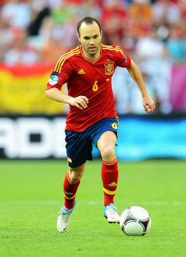 A. Iniesta (Spain in Euro Cup)
