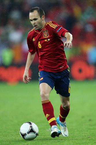 A. Iniesta (Spain in Euro Cup)