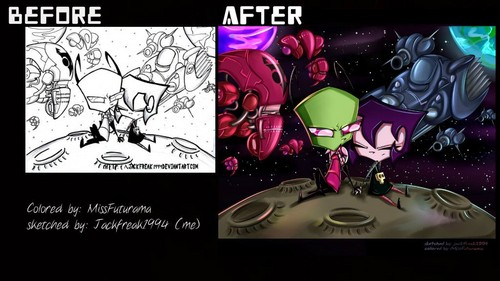 A romeo and Juliet story - invader-zim Fan Art