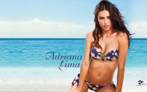 Adriana Lima karatasi la kupamba ukuta with a bikini titled Adriana Lima