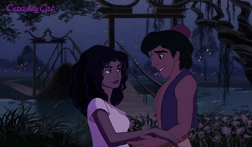 aladdin and Esmeralda Embrase