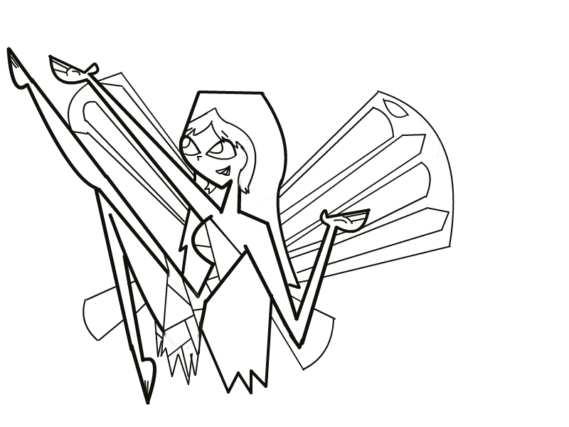 Ally fairy base total drama island fan art 31132542 for Total drama action coloring pages