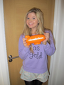 Ana holding her Nick blimp - ana-mulvoy-ten photo