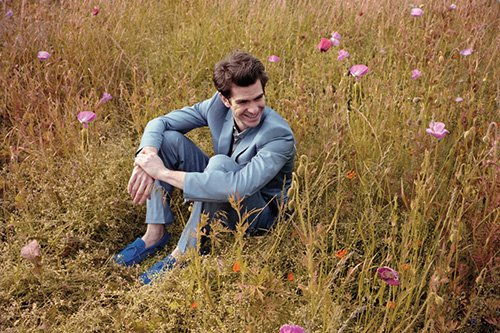Andrew Garfield wallpaper containing a grainfield titled Andrew Garfield Covers NYLON Guys July 2012