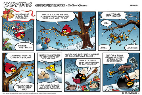Angry Birds Comic Seasons Рождество part 1
