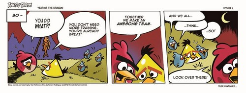 angry birds wallpaper containing animê entitled Angry Birds Seasons Dragon Comic part 5