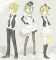 Another picture of Rin, Len and Gumi because I'm bored.  - beastboycahill-misschicky97-and-panda-hero photo