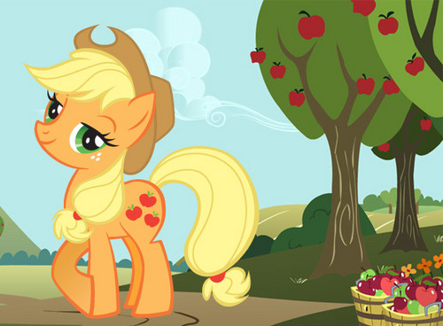 My Little ngựa con, ngựa, pony - Friendship is Magic hình nền possibly with anime called rượu làm bằng trái táo, applejack