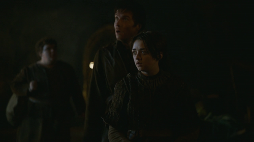 Arya and Gendry with Hot Pie