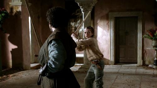 Arya and Syrio