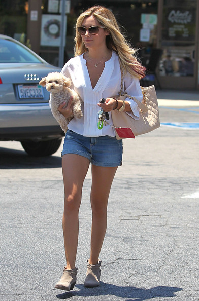 Ashley Tisdale Ashley - Leaving the Nail Garden Salon in Toluca Lake - June