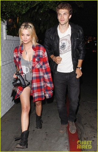 Ashley with Keegan leaving chateau Marmont