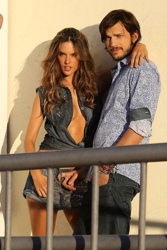 Ashton Kutcher and Alessandra Ambrosio teaming up for their sexy photoshoot for Colcci