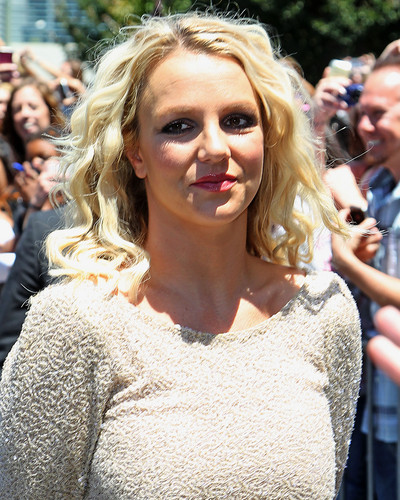 Britney Spears wallpaper probably with a portrait called Attends X Factor Auditions San Francisco Day 2 [18 June 2012]