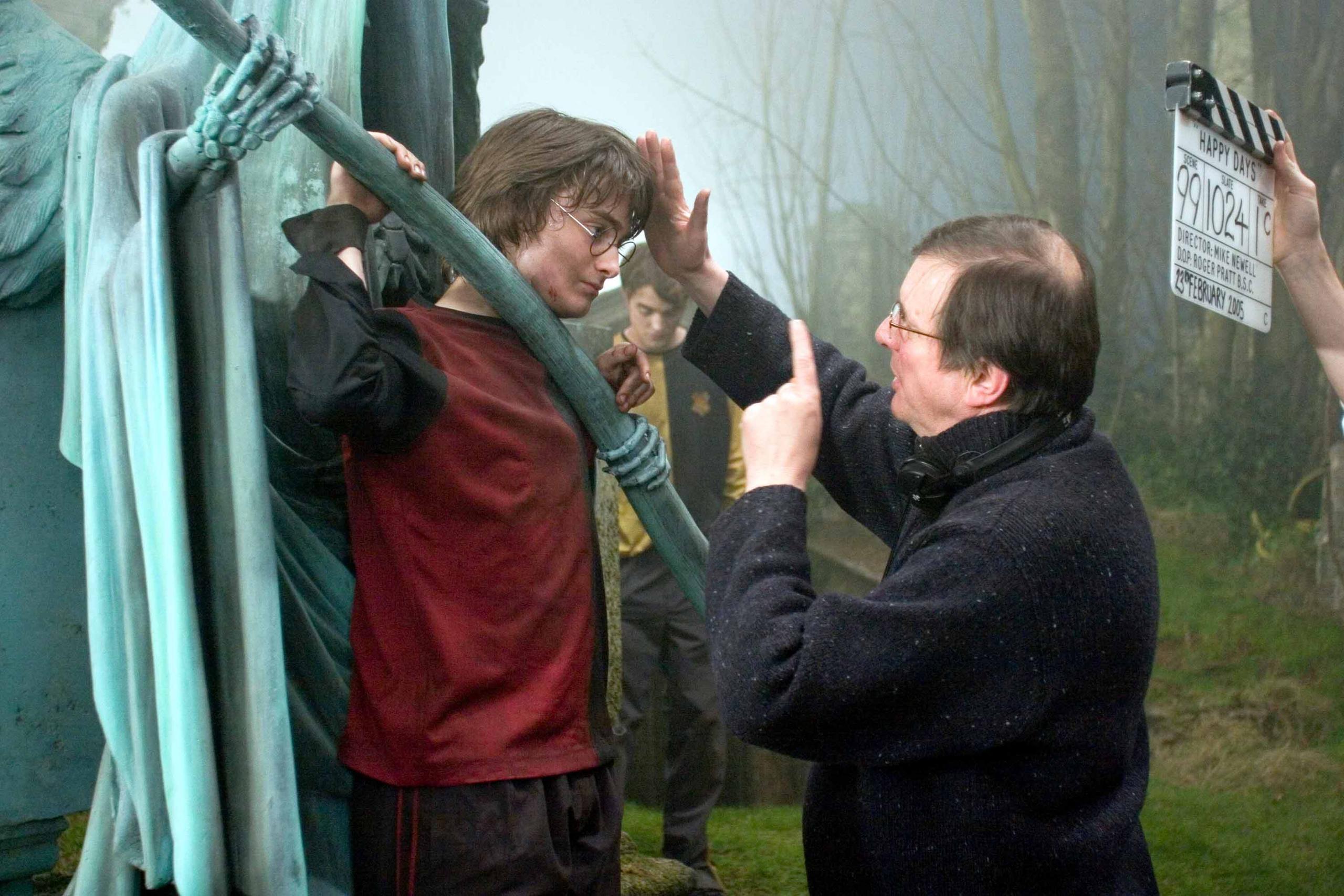 behind the scenes of goblet of fire graveyard scene