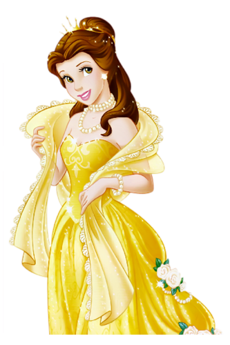 Disney Princess wallpaper containing a gown and a dinner dress entitled Belle