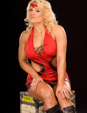 beth phoenix wallpaper possibly containing tights, a hip boot, and a leotard called Beth Phoenix Photoshoot Flashback