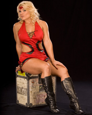 beth phoenix wolpeyper with a hip boot titled Beth Phoenix Photoshoot Flashback