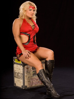 beth phoenix wallpaper with a hip boot, hosiery, and bare legs entitled Beth Phoenix Photoshoot Flashback