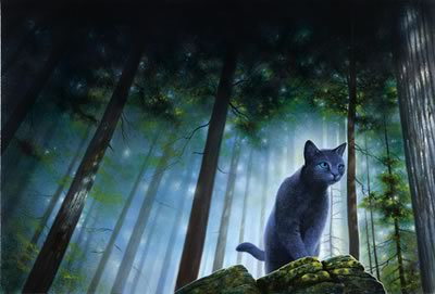 Warriors (Novel Series) Hintergrund containing a panther entitled Bluestar