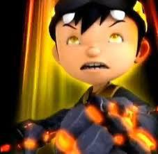 Boboiboy achtergrond called Boboi Boy Earthquake/Gempa