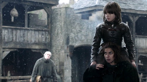 Bran with Osha and Hodor
