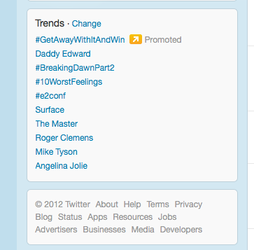 Breaking Dawn Part 2 and Daddy Edward trending on Twitter