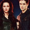 Twilight Series تصویر probably with a trench coat, a مٹر, مصری چنا jacket, and a well dressed person called Breaking Dawn part 2 --- Edward, Bella, and Renesmee