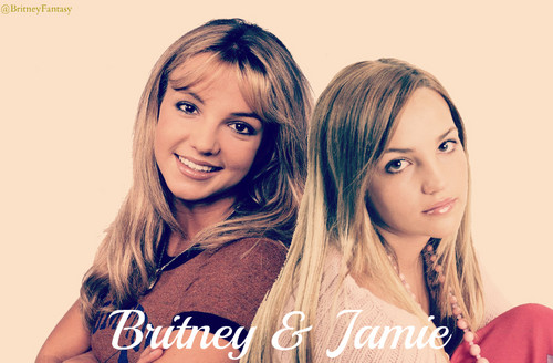 ブリトニー・スピアーズ 壁紙 with a portrait called Britney & Jamie Lynn Spears