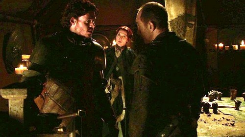 Catelyn and Robb with Bolton