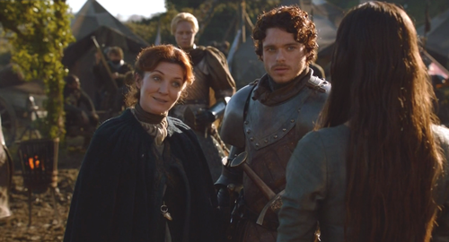 Catelyn and Robb with Jeyne