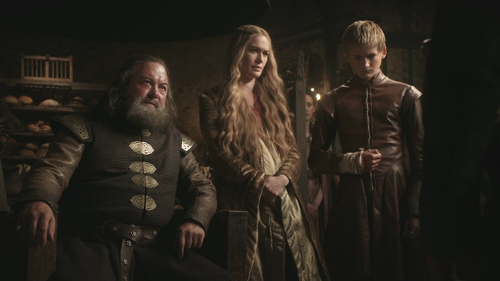 Cersei and Robert with Joffrey