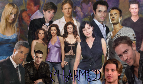 Charmed wallpaper probably containing a bridesmaid, a business suit, and a portrait titled Charmed Cast