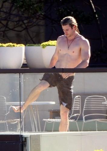 Chris Hemsworth in Sydney