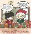 Christmas Drarry! - harry-and-draco fan art