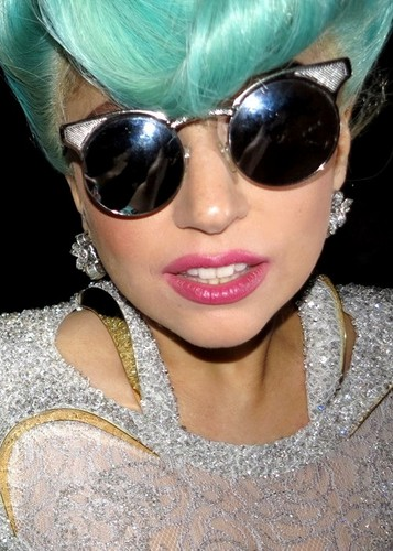 Close-up of Gaga's face in Sydney.
