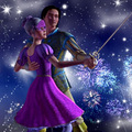 Corinne and Louis with Sparkles and Fireworks background - barbie-and-the-three-musketeers photo
