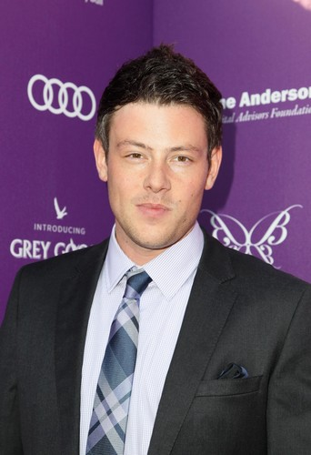 Cory Monteith wallpaper containing a business suit and a suit called Cory & Lea At The 11th Annual Chrysalis Butterfly Ball