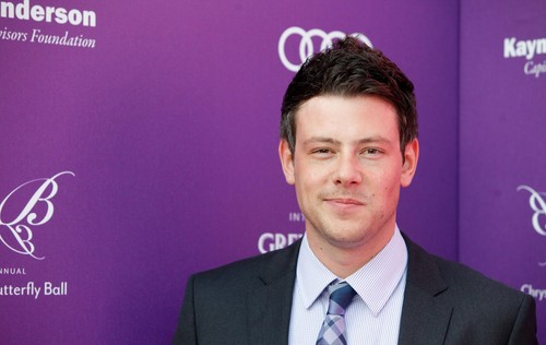 Cory Monteith wallpaper containing a business suit and a suit entitled Cory & Lea At The 11th Annual Chrysalis Butterfly Ball